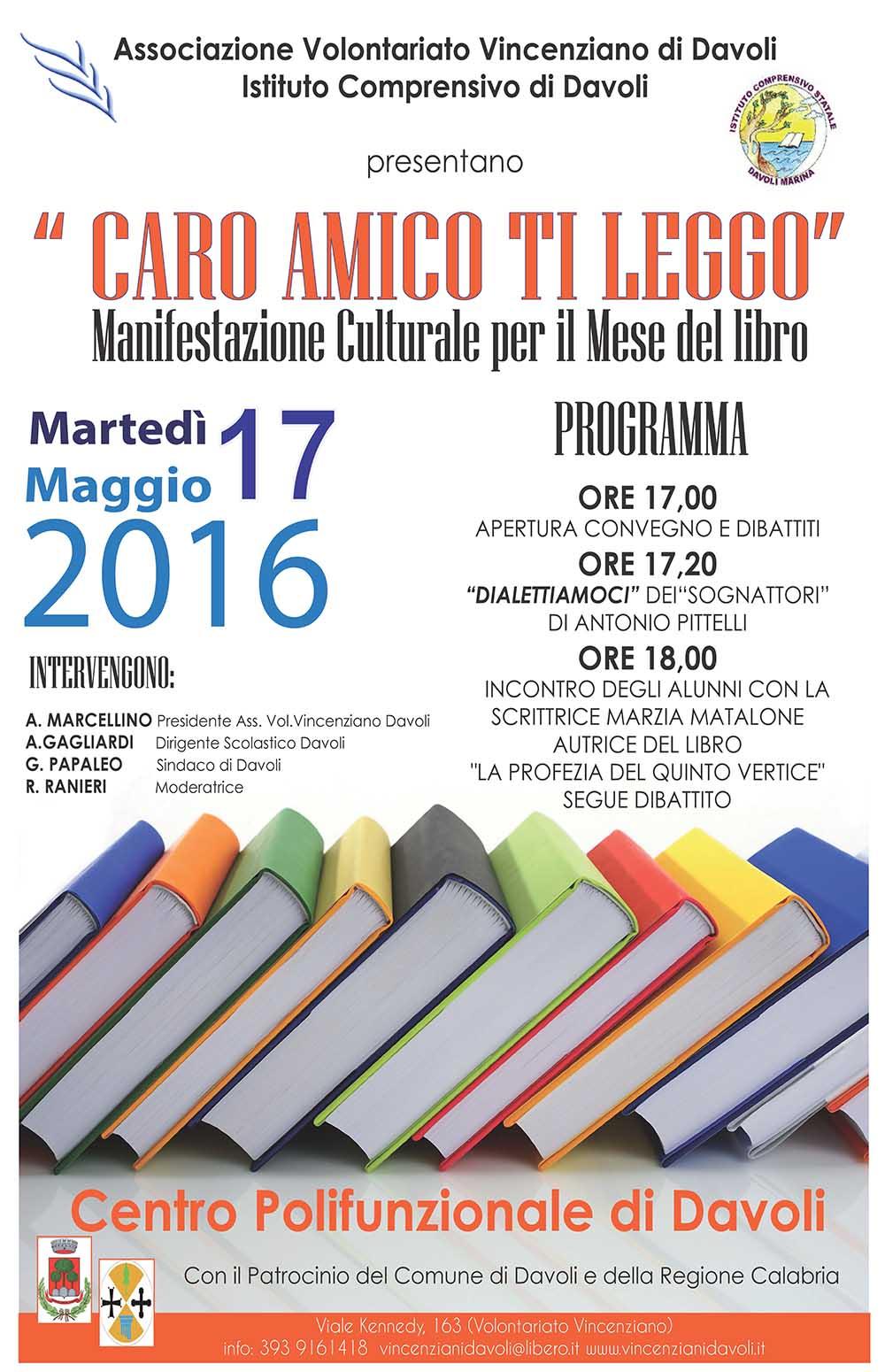 CARO AMICO TI LEGGO 2016